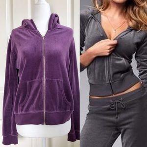 Victoria's Secret purple velour jacket